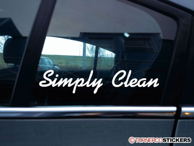 """ Simply Clean "" stanced show car VAG , JDM stickers"